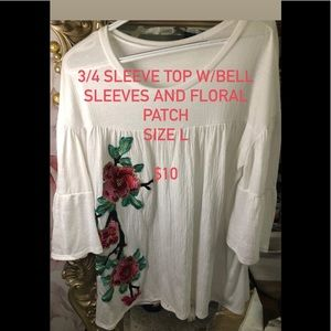 Boutique Brand 3/4 sleeve Tee